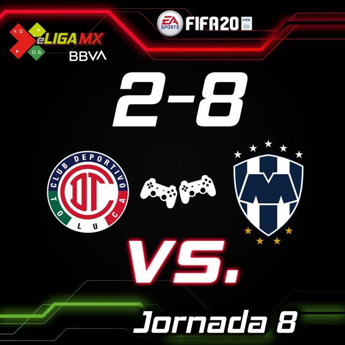Monterrey oleó 8-2 a Toluca