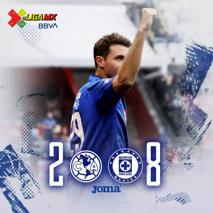 Cruz Azul goleó al América en Futbol Virtual