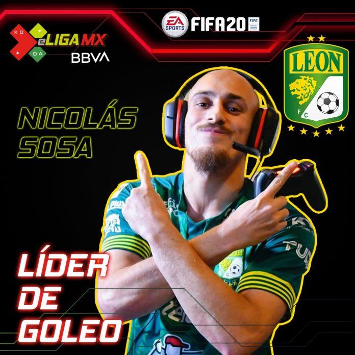 Nicolás Sosa del León nuevo líder de goleo