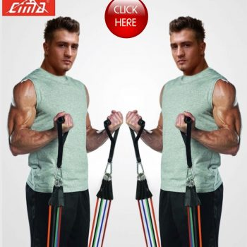 CIMA Resistance Bands 11 PCS Fitness loop ropes Tubes pull up Set Gym Equipment, Exercise Handles trainer latex Yoga